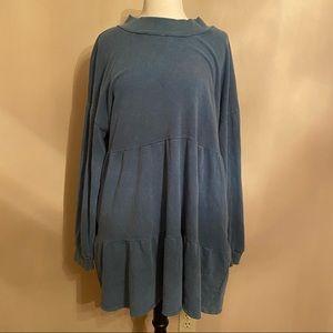 NWOT Women Wild Fable Blue Dress Pocket Sweatshirt